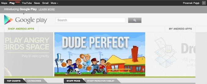 Google dodał Play do paska nawigacyjnego. Niby niewiele, lecz…