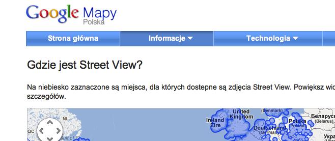 Google Street View działa w Polsce!