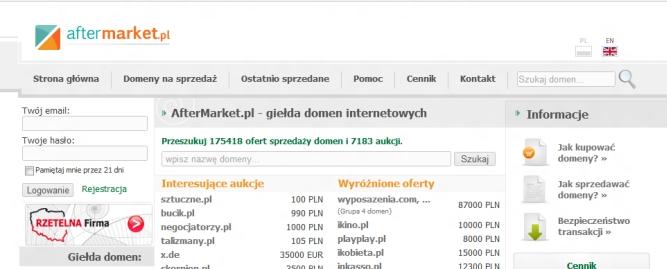 Na domenach można zarobić. AfterMarket.pl się zmienia i rozpoczyna kampanie reklamową w TV