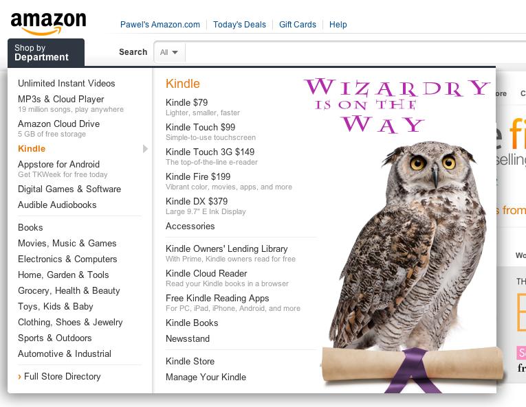 Amazon chce zarabiać więcej na e-Harrym Potterze