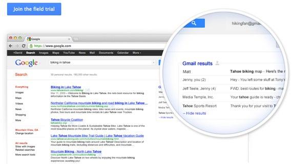 Google przeszuka Twojego Gmaila w oknie wyszukiwarki