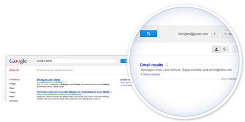 Eksperymentalna funkcja Google, poszerza wyniki wyszukiwania o maile