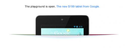 Nexus 7 to poważna sprawa, skoro Google reklamuje go na głównej stronie wyszukiwarki
