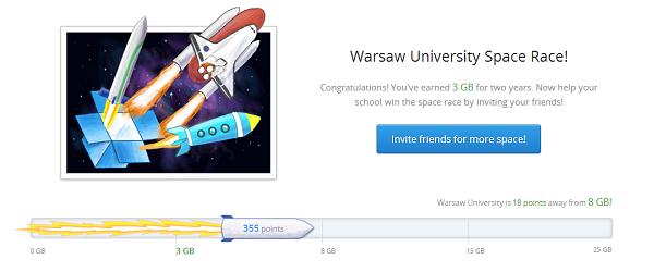 Dodatkowa przestrzeń w Dropbox dzięki Space Race. Zaskakująca popularność w Polsce