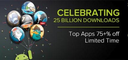 Podsumowanie promocji w Google Play z okazji 25 miliardów pobrań.