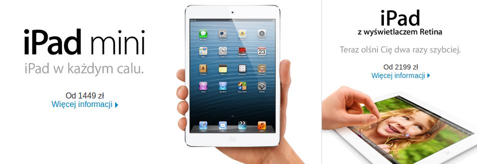 """Cena za nowego iPada mini? Tylko 1449 zł. Ktoś kupi teraz """"dużego"""" iPada?"""
