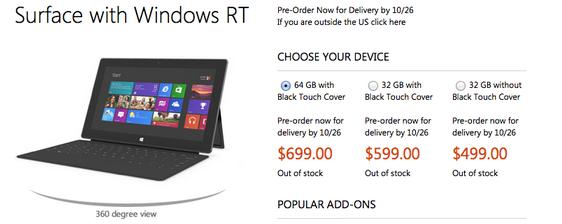 Znamy ceny Microsoft Surface z Windowsem RT! Tanio nie jest, drogo też nie