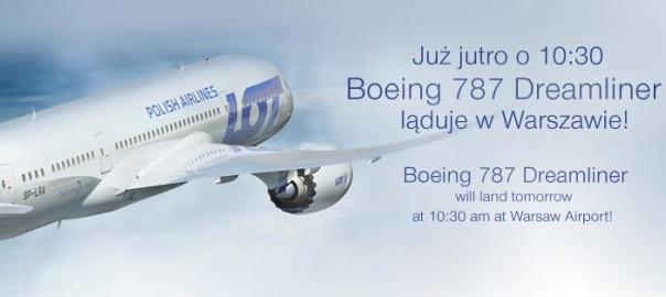 Już jutro Boeing 787 Dreamliner wyląduje w Polsce. To trzeba zobaczyć!