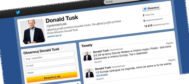Premier Donald Tusk zawitał na Twittera. Tweetuje coraz liczniejsza ekipa rządowa