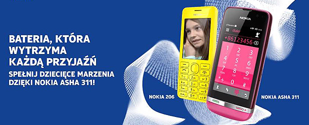 Nokia 206 – ten telefon wytrzyma… 47 dni na jednym ładowaniu