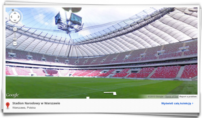 google street view stadion narodowy w warszawie