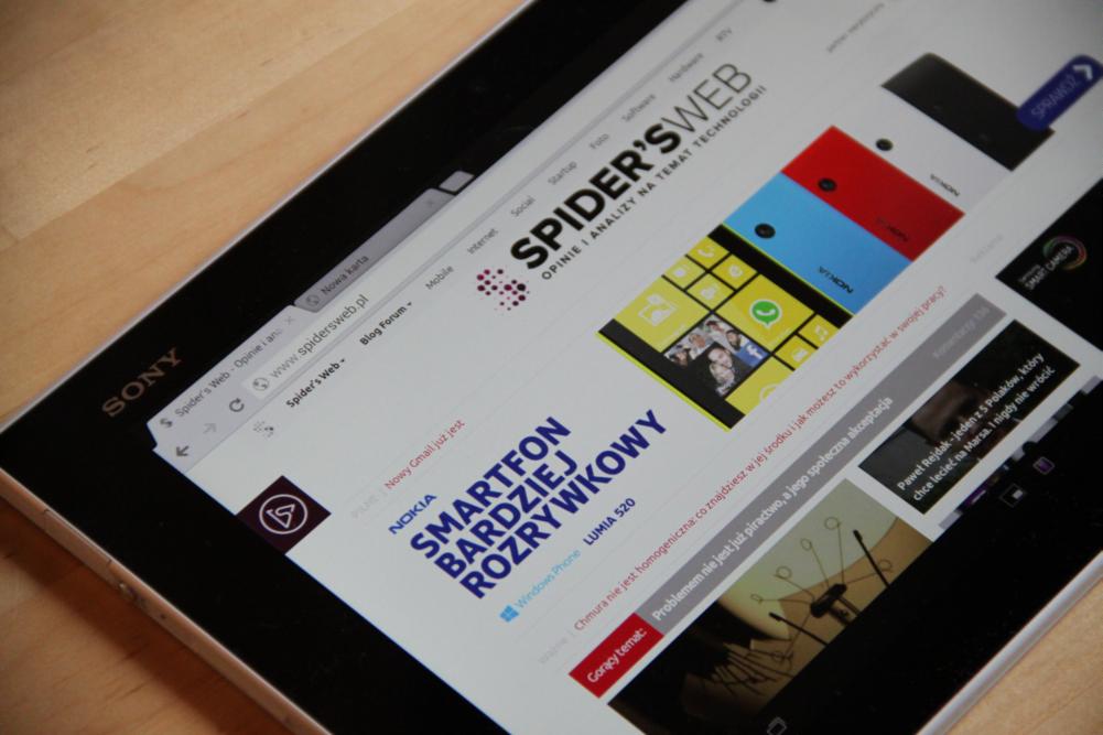 Sony Xperia Tablet Z to Maserati wśród tabletów z Androidem – pierwsze wrażenia Spider's Web