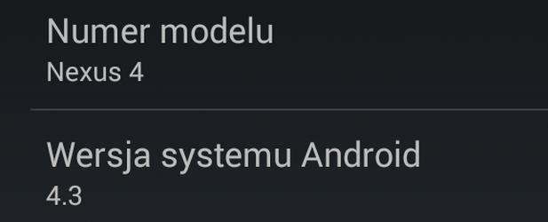 Jak zainstalować Androida 4.3 na Nexusie?