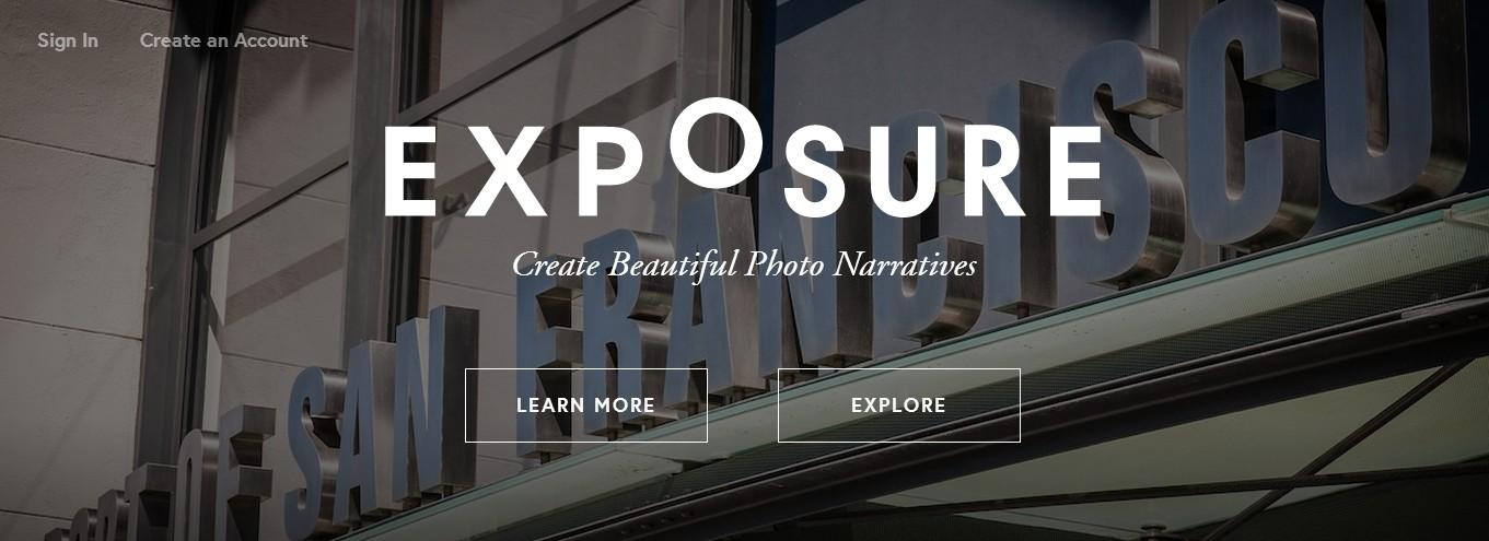 Znudzeni typowymi internetowymi galeriami zdjęć? Wypróbujcie Exposure