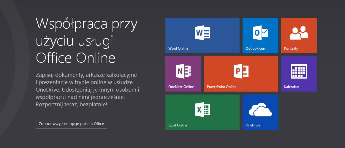 Microsoft uruchomił Office Online, czyli webową i darmową wersję pakietu biurowego