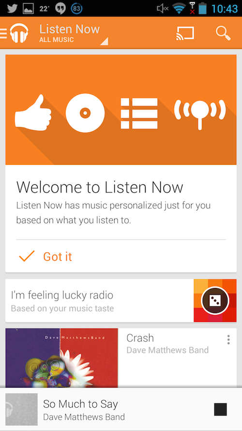 android how to listen to music and play games