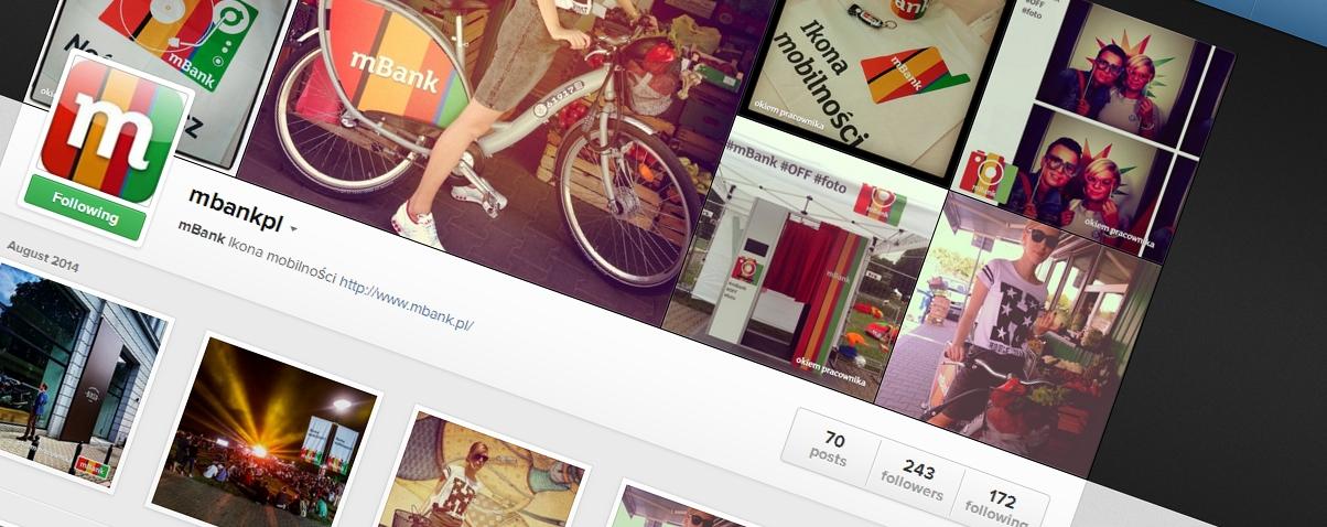 Po co bankowi konto na Instagramie? Zapytaliśmy o to mBank
