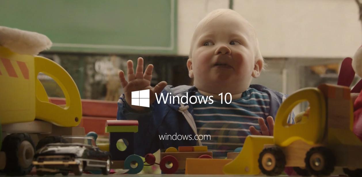 Mało Windows 10 w reklamach Windows 10