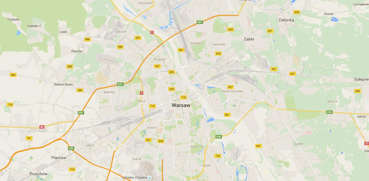 [Aktualizacja] To wina upałów, czy Google'a? Wisła znika z mapy Polski