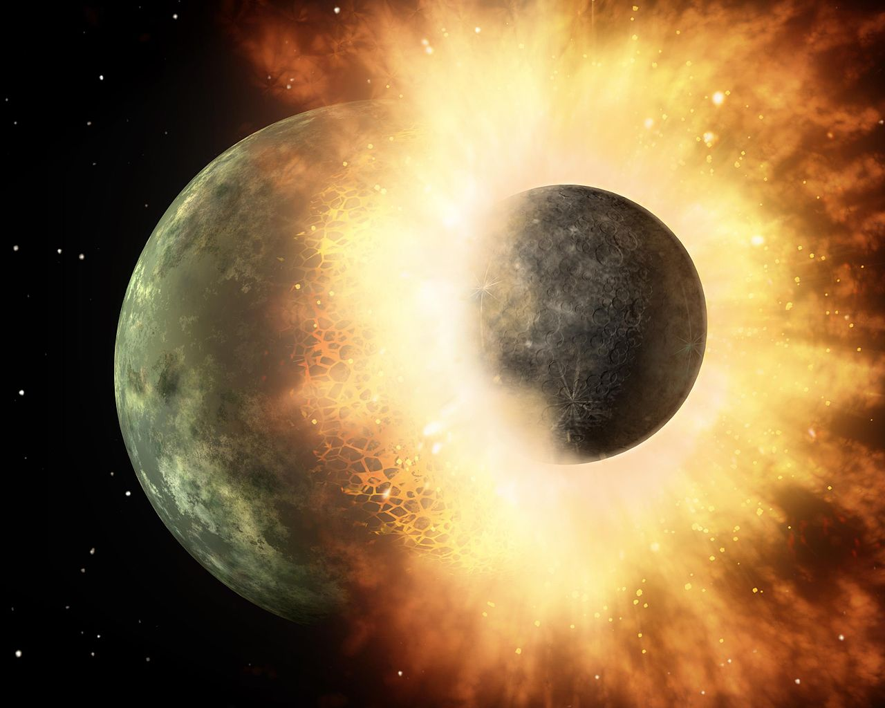 Zagmatwana historia, ale fakty wskazują na to, że bez Księżyca nie byłoby życia na Ziemi