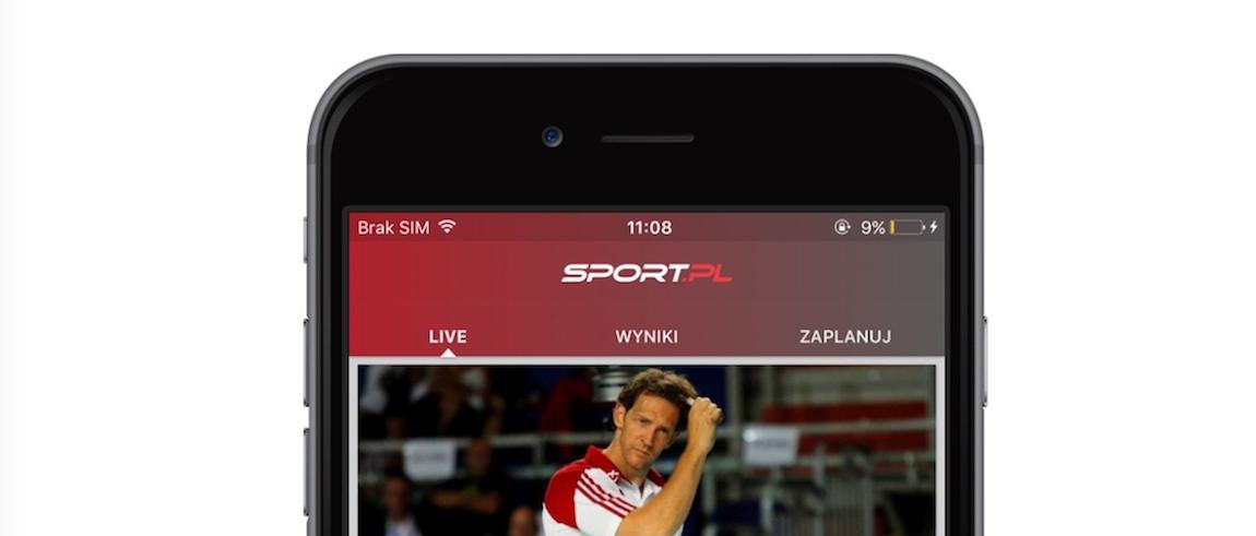 Od jutra aplikacja mobilna Sport.pl nie będzie już straszyć