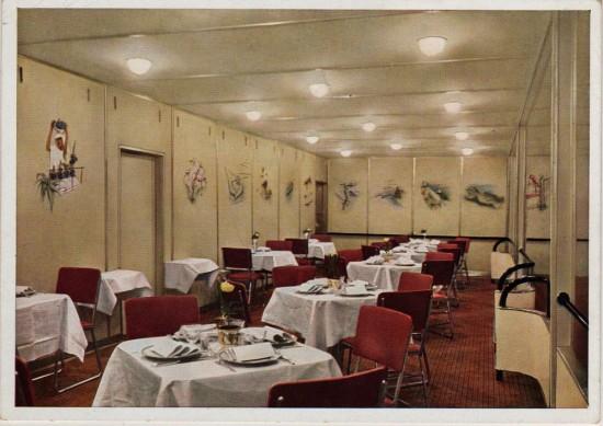 Restauracja na pokładzie Hindenburga (airships.net)