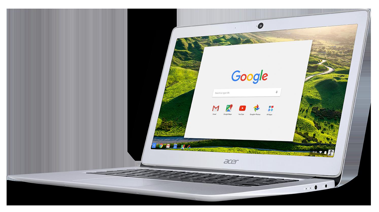 Chromebook 14 to szklany laptop spełniający militarne normy wytrzymałości.