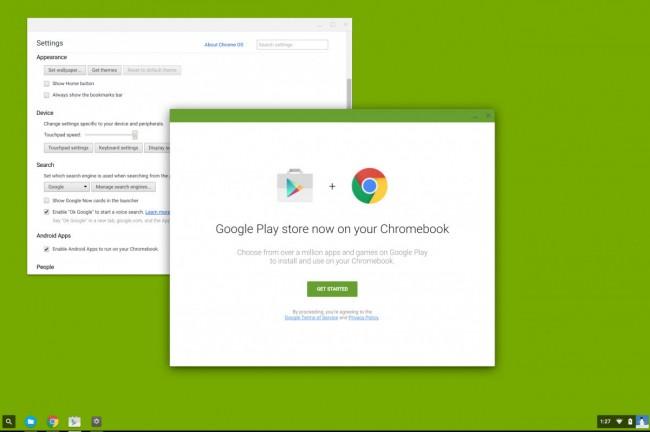 Google Play na Chrome OS