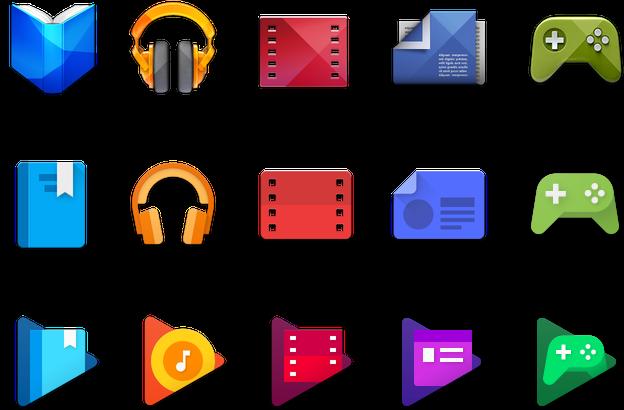 Ikony Google Play były zmieniane już wielokrotnie.
