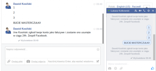 X zgłosił twoje konto jako fałszywe i zostanie ono usunięte w ciągu 24h. Zespół Facebook