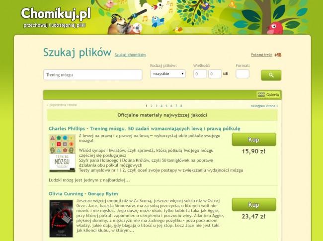 Legalne ebooki w Chomikuj