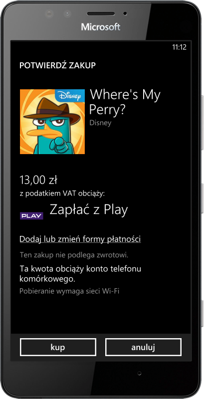 Płatności za aplikacje w Play