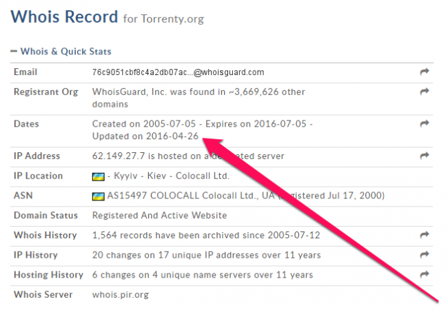 Serwis Torrenty.org nie działa - informacje o domenie