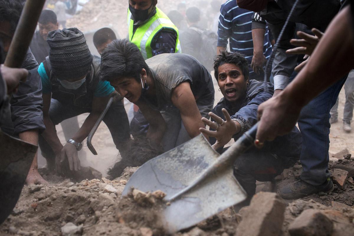 Odkopywanie, Kathmandu, Nepal