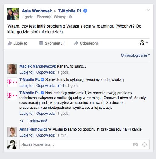 Roaming w T-Mobile nie działa