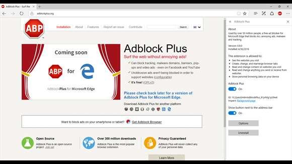 AdBlock w Edge