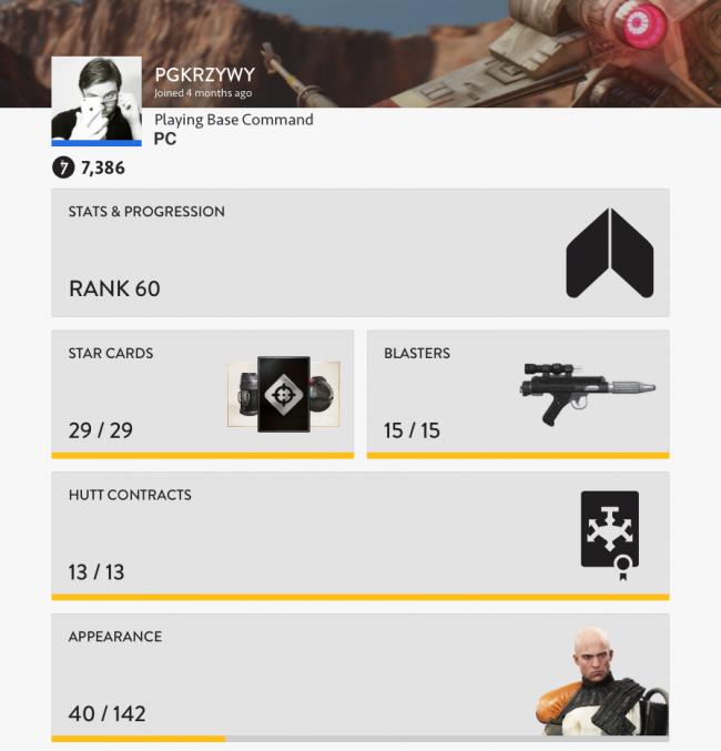 Star Wars Battlefront - statystyki Outer Rim DLC