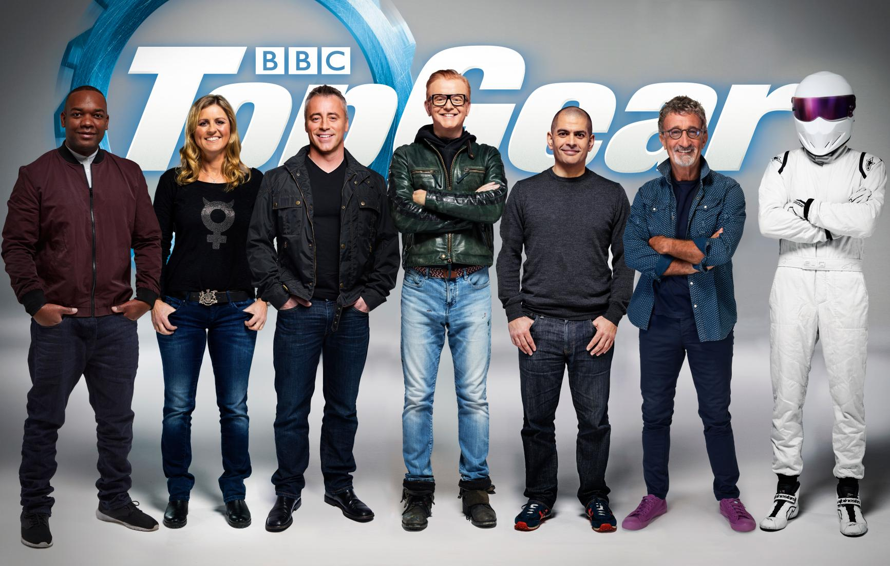 Nowy Top Gear on old car racing tv show