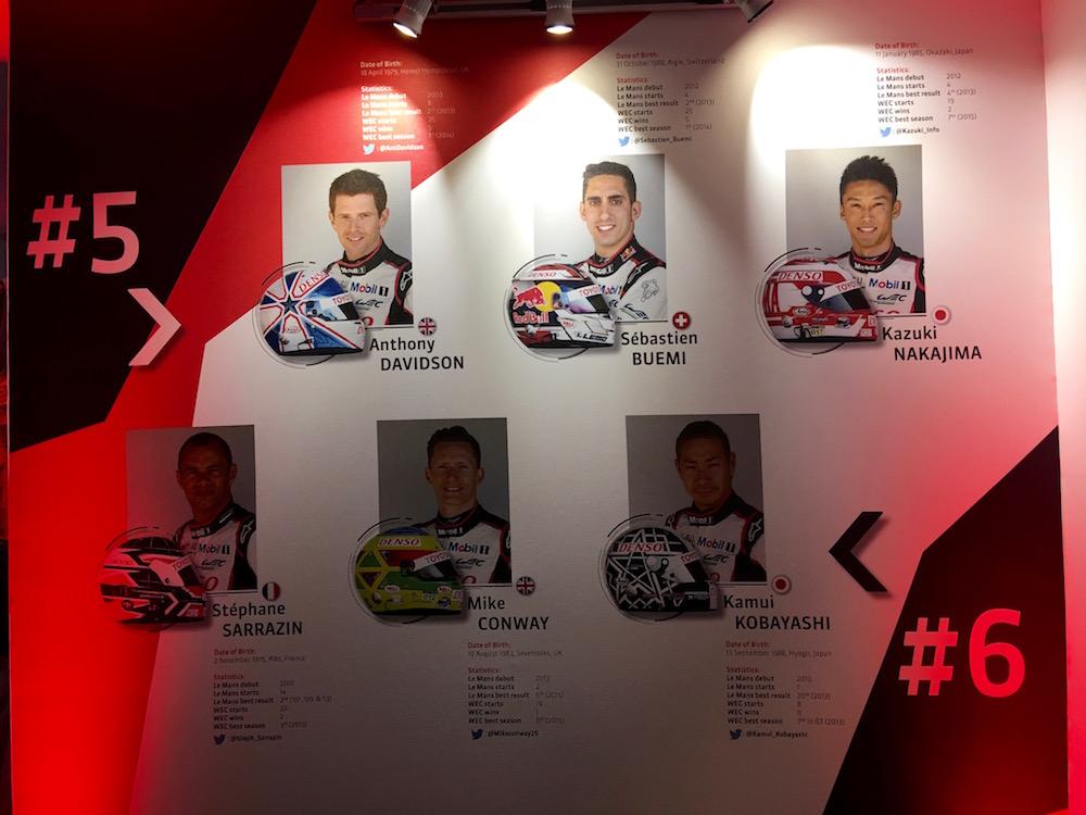 kierowcy Toyoty na Le Mans