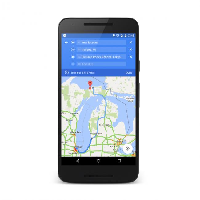 Google Maps: wiele punktów - źródło: androidpolice.com