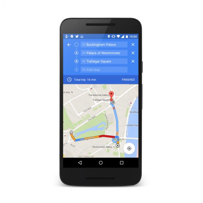 Mapy Google: wiele punktów - źródło: androidpolice.com