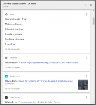 Nie tylko Google Now jest rejestrowane...