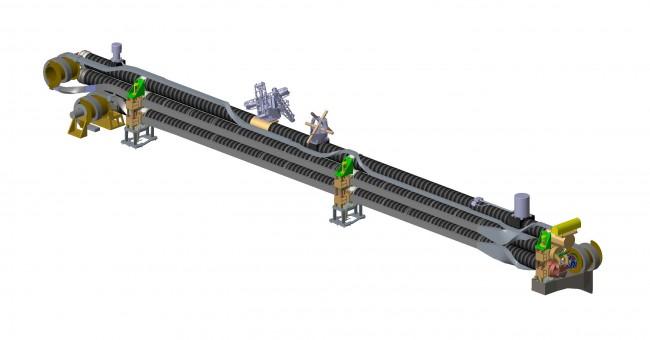 Manipulator magnetometru (element, który konstruuje i testuje Sener)