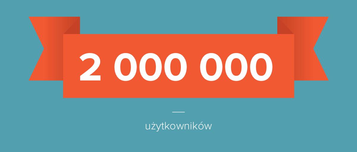 Dwa miliony użytkowników na Spider's Web!