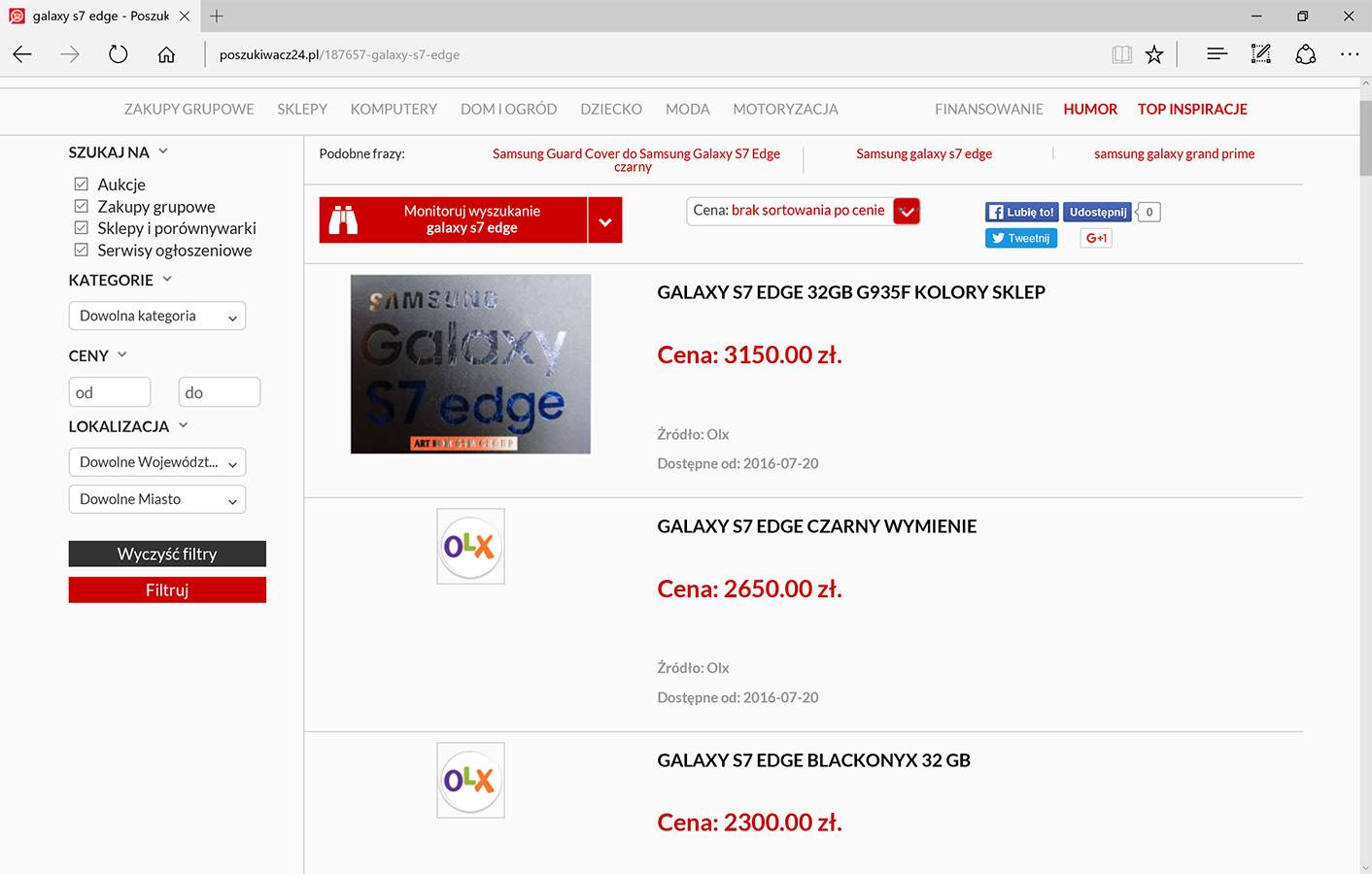 Poszukiwacz24 Przeszuka Dla Ciebie Allegro Olx Ebay I Groupona