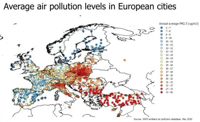WHO Zanieczyszczenia powietrza