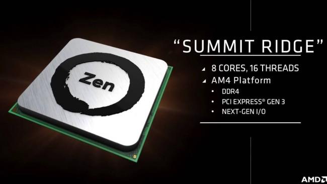 AMD Zen Summit Ridge
