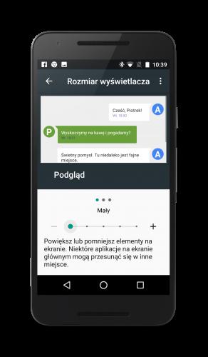 Android 7.0 Nougat Rozmiar Wyświetlacza 2