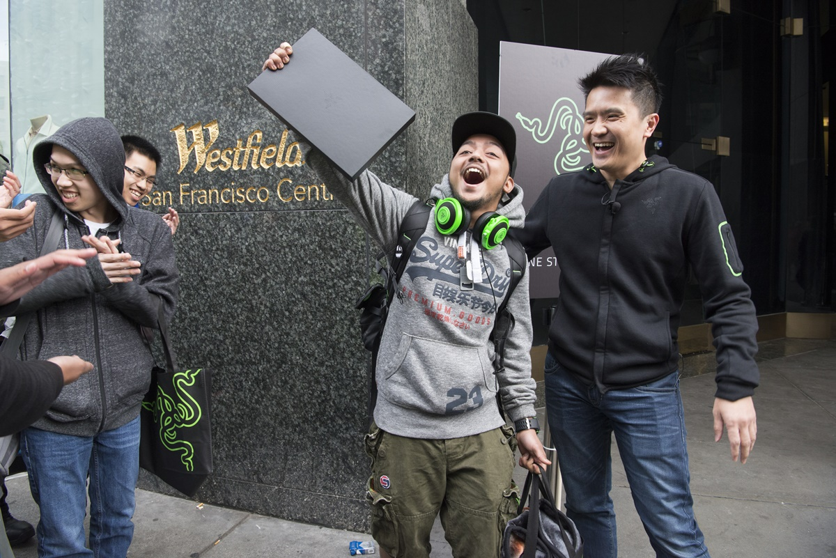 More than 1,600 registered registered fans and an estimated thousand more lined-up the grand opening of RazerStore San Francisco, Saturday, May 21, 2016. The store is the first flagship location for Razer, the leader in connected devices and software for gamers. The company plans to open additional locations in major cities nationwide. (Photo by Peter Barreras/AP Images for Razer USA)