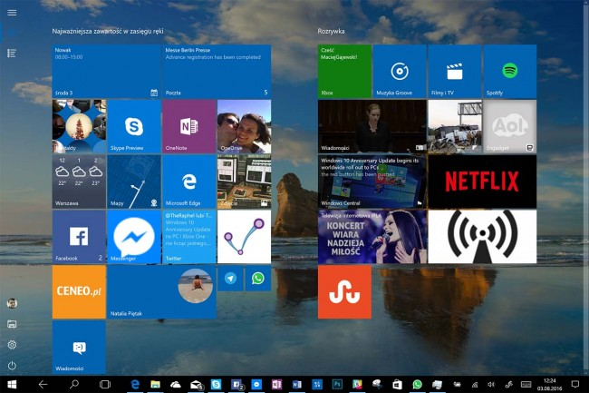 Windows 10 Anniversary Update test
